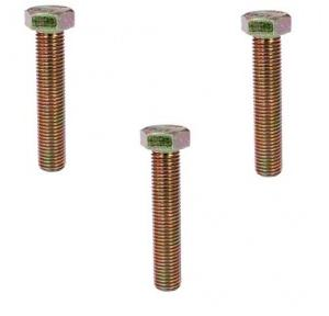 APS MS Zinc Plated Hex Bolt Full Thread, Diameter: 1/2 Inch, Length: 3 - 1/2 Inch