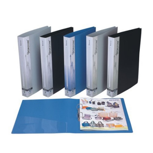 Worldone RB410 PVC Ring Binder 2 D Ring, 25 mm, Size: A4