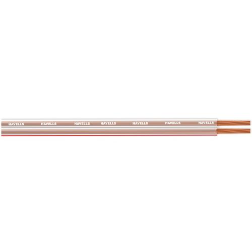 Havells 0.75 Sqmm 2 Core Twin Flat Speaker Cable, 100 mtr