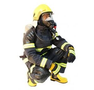 Resguardo Fire Man Suit with Hood, Gloves, Helmet & Boot