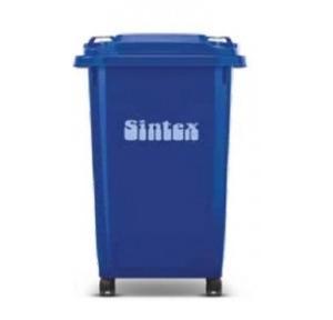 Sintex 2 Rubber Wheels Dustbin 100 Ltr, GBRW 10-04 (Blue)