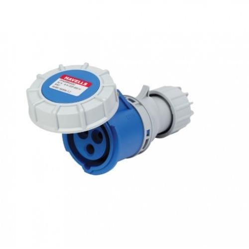 Havells 32A 2P+E Industrial Plug & Connector IP77, DHQDB63032 (Pack of 4 Pcs)