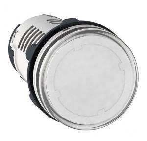 Schneider Round Pilot Light Harmony XB7 22mm 120V Clear, XB7EV07GPN