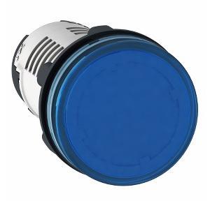 Schneider Round Pilot Light Harmony XB7 22mm 120V Blue, XB7EV06GPN