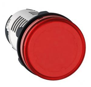 Schneider Round Pilot Light Harmony XB7 22mm 120V Red, XB7EV04GPN