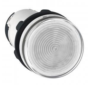 Schneider Round Pilot Light Harmony XB7 22mm 120V White, XB7EV01GPN