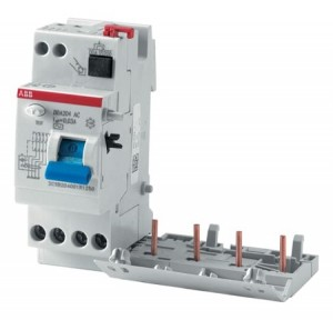 ABB RCCB With Overcurrent Protection Blocks DDA200 25A 4P 100mA, 2CSB204001R2250