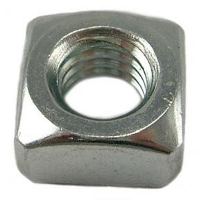 APS Zinc Coated MS Square Nut, M4