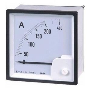 Unitech AC Analog Ammeter Moving Iron Type 0-400A, 96x96mm