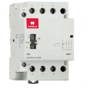 Havells Automatic Modular Contactor With Manual Override 63A 3NO 3P, DHPMA063330M