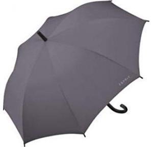 Esprit Long Handle Umbrella With UV Coating, Length: 86cm (Grey)
