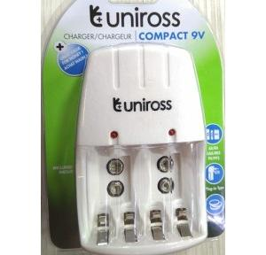 Uniross Compact 9V Charger for AA, AAA & 9V Batterries