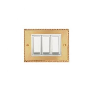 Anchor Roma Classic 24Kt Gold Plated Casted Solid Metal Plate (With White Frame) 3M, 21893GD (Gold)