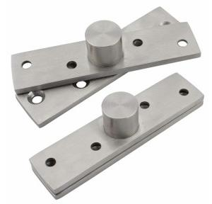 Dreamtop Hidden Door Center Pivot Hinges Stainless Steel 360 Degree Rotation, 98x23mm (Set of 2)
