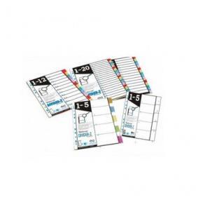 Worldone DV110-R Divider-z - Refillable - 10 - (Uni/Col), Size: A4