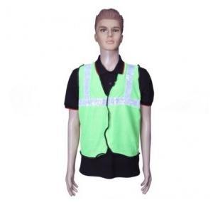 Safari Reflective Safety Jacket 1 Inch Lycra, Green, 60 GSM