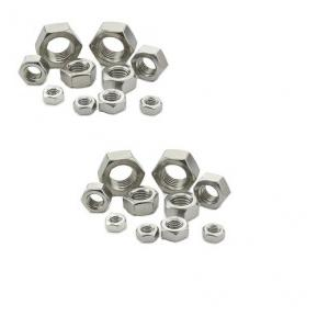 APS MS Zinc Plated Hex Nut, Size: 1/2 Inch
