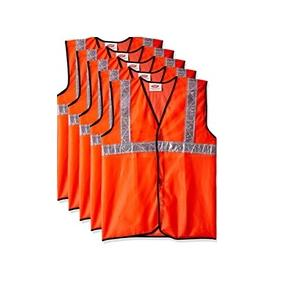 Floor Warden Chain Jacket Orange XL Size 120 GSM With 2 Inch 3M Reflective Strip With Logo Print at Back Side