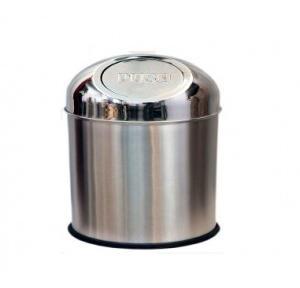 Push Can SS Dustbin 5x8 Inch, 3 Ltr