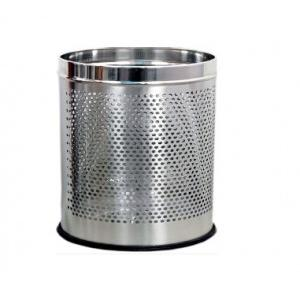 Perforated SS Dustbin 12x18 Inch, 36 Ltr