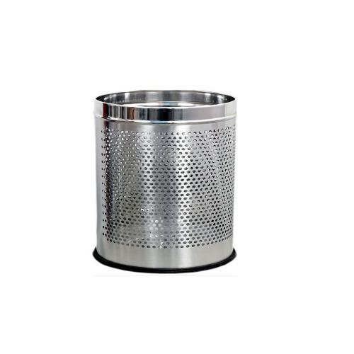 Perforated Dustbin SS 202 Grade 10x14 Inch, 18 Ltr