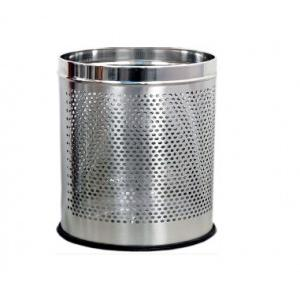 Perforated SS 202 Dustbin 7x10 Inch, 6 Ltr