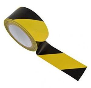 Zebra Floor Marking Tape, 2 Inch x 23 Mtr Black & Yellow