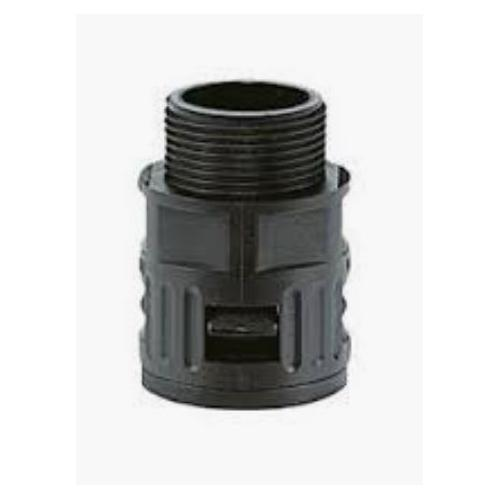 Kapson Quick Screw Connector/ Straight Gland, RQG1-AD 42.0 (Black)