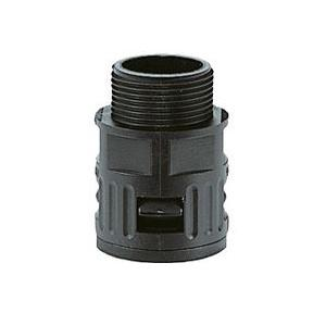 Kapson Black Quick Screw Connector/ Straight Glands, RQG1-AD 18.0