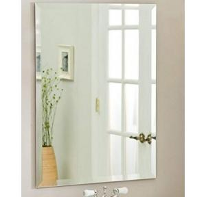 Frameless Mirror With 4 Fix Hole 48x36 Inch, Thickness: 6mm