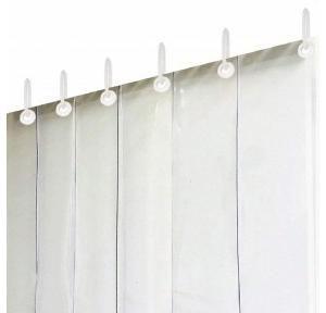 Kuber Industries Transparent 6 Strips AC Curtain PVC 7 Ft 2mm, CTLTC011281 With 2 Brackets, 1 Inch SS Pipe approx 3 1/2 Ft