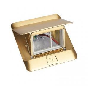 Legrand Pop-Up Box 3M Brushed Brass Finish, 054015
