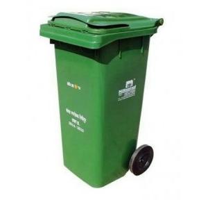 Nilkamal Wheel Garbage Waste Bin 725x580x1075mm, 240 Ltr (Green)