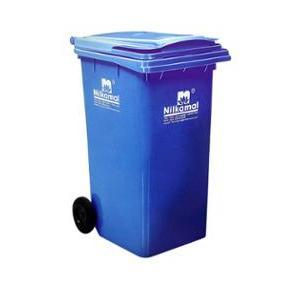 Nilkamal Wheel Garbage Waste Bin, 240 Ltr (Blue)