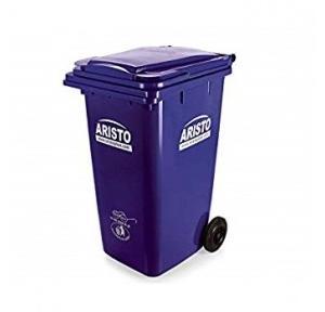 Aristo Wheel Waste Bin, 240 Ltr (Blue)