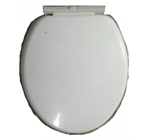 Hindware Lara Ceramic WC Seat Cover Starwhite, 535x380 mm