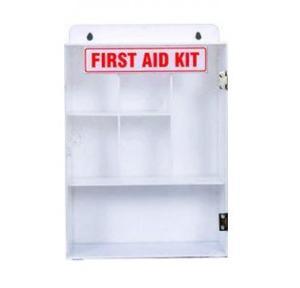 First Aid Plastic Box With Acrylic Door, 9Lx14Hx4.5B Inch