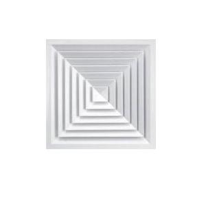 Ceiling Diffuser Aluminium Square, Outer Size: 450x450mm, Inner Size: 300x300mm (White)