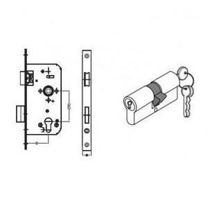 Dorma Satin SS Sash Lock 20x55mm, XL-C 3025 and Euro Profile Cylinder Lock 60mm, XL-C 2010A