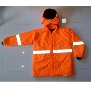 Fire Safety Jacket Inherently Flame Retardant Fabric, Size: Large (Orange)