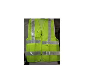 Safety Jacket Cloth Type Green XXL Size 120 GSM With 2 Inch 3M Reflective Strip With Fabric Sticker at Front & Back