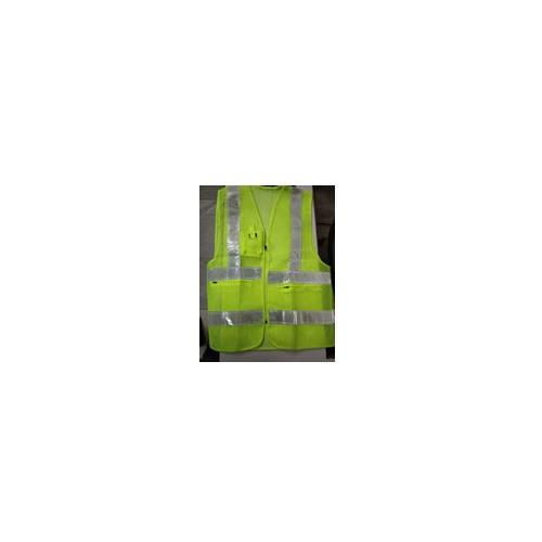 Safety Jacket Cloth Type Green XL Size 120 GSM With 2 Inch 3M Reflective Strip With Fabric Sticker at Front & Back