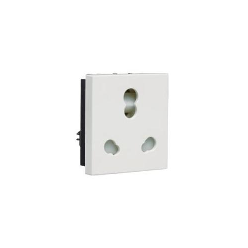 Crabtree Verona 6/16A 3 Pin Shuttered Socket With ISI Marking, ACVKCWW163
