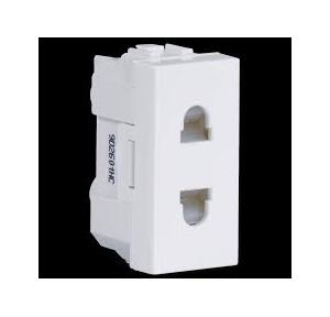 Crabtree Verona 6A 2 Pin Shuttered Socket, ACVKSWW062