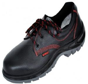 Karam FS 01 Gripp Series Black Steel Toe Safety Shoes, Size: 7