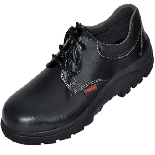 Karam FS 02 Gripp Series Black Steel Toe Safety Shoes, Size: 8