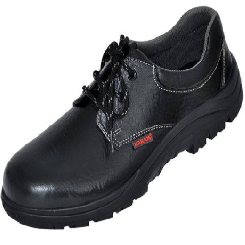 Karam FS 02 Gripp Series Black Steel Toe Safety Shoes, Size: 6