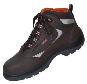 Karam FS 65 Premium Range Brown composite Toe Safety Shoes, Size: 6