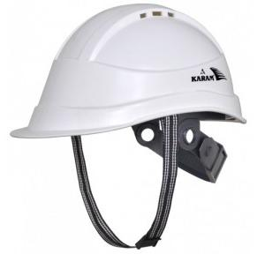 Karam PN542 Ventilation Ratchet Type White Safety Helmet