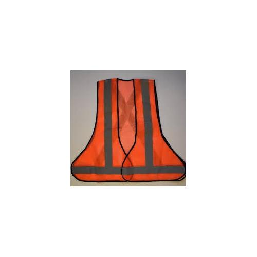Safety Jacket 3 Side Open 120 GSM Net With 2 Inch Strip With Velcro And Logo